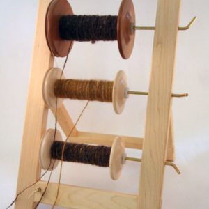 Lazy Kate wood spinning bobbins