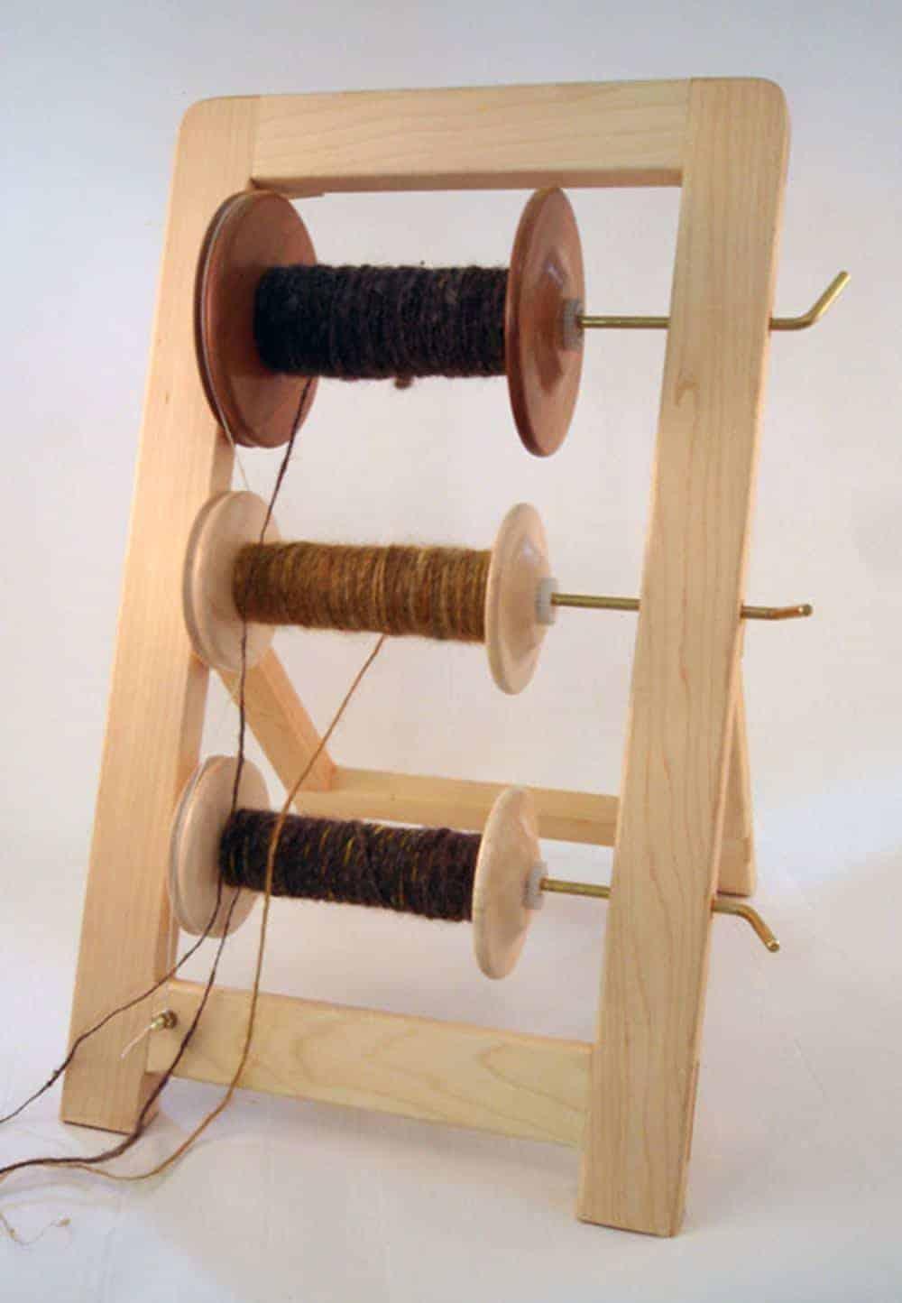 Lazy Kate wood spinning bobbins
