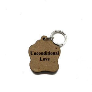 Unconditional Love Paw Print Stitch Marker (back)